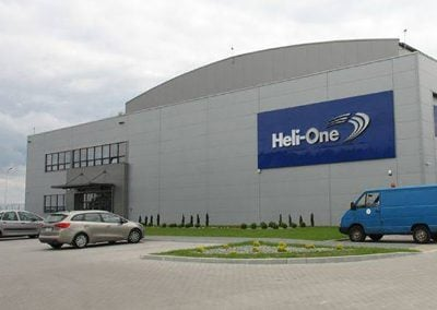 Hangar remontowy koncernu Heli-ONE w Jasionce